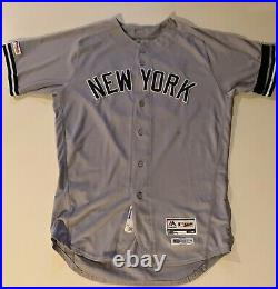 2019 Clint Frazier NY Yankees Game Used Worn Jersey 150th Anniversary Patch 3-4