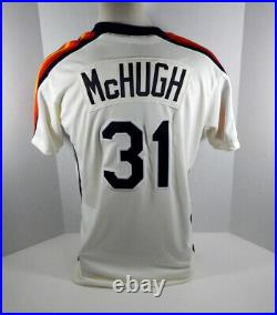 2019 Houston Astros Colin McHugh #31 Game Issued Cream Jersey GU Pant Hat 1989
