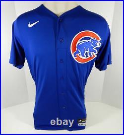 2020 Chicago Cubs Albert Almora Jr. #5 Game Issued Blue Jersey DP07859