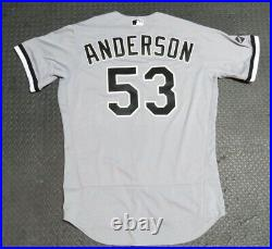 2020 Drew Anderson Chicago White Sox Game Issued Worn MLB Baseball Jersey