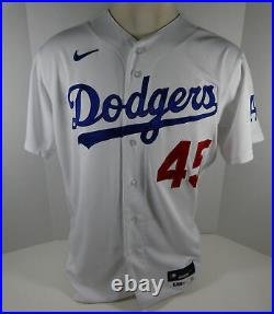 2020 Los Angeles Dodgers Matt Beaty #45 Game Issued Pos Used White Jersey ASG P