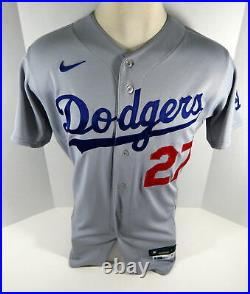 2020 Los Angeles Dodgers Terrance Gore #27 Game Issued Grey Jersey World Series