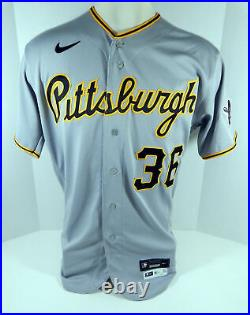 2020 Pittsburgh Pirates Jose Osuna #36 Game Issued Pos Used Grey Jersey 858