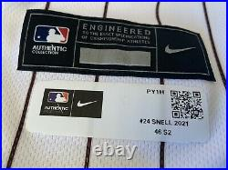 2021 san diego padres jersey / game used worn blake snell