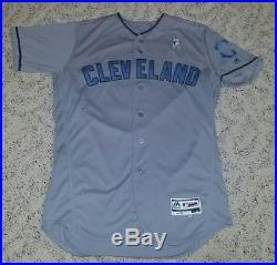 6/17/2017 Game Used Lonnie Chisenhall Cleveland Indians Father Day Jersey Sz 44