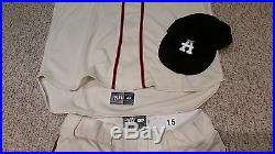 A. J Pierzynski Game Issued / Worn 2015 Atlanta Braves Heritage Uniform Crackers