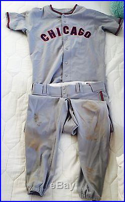 Addison Russell Game Used Rookie Season Throwback Jersey/uniform Cubs Mlb Auth
