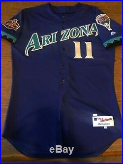 AJ Pollock Diamondbacks Game used worn autographed jersey JSA MLB auth Dodgers