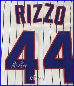 ANTHONY RIZZO AUTOGRAPHED GAME ISSUED USED CHICAGO CUBS 2015 POSTSEASON JERSEY