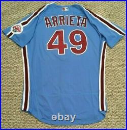 ARRIETA #49 size 48 2020 PHILADELPHIA PHILLIES Home RETRO Game used Jersey MLB
