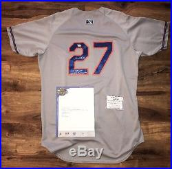 Addison Russell Cubs Signed 2014 Game Used Autograph Jersey Fanatics Coa