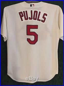 Albert Pujols, 2001, St Louis Cardinals, Game Worn Rookie Jersey