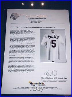 Albert Pujols Signed St. Louis Cardinals 2003 Game Used Worn Auto Jersey JSA LOA