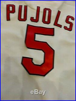 Albert Pujols St. Louis Cardinals 1971 Throwback Game Used Jersey Pants Petco
