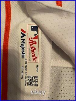 Alex Bregman 2017 Game Used World Series Jersey from Game 4 Homerun Astros