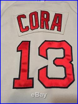 Alex Cora Red Sox Game Used Jersey MLB Authenticated With LOA ... e174005722c