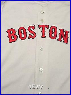 Alex Cora Red Sox Game Used Jersey MLB Authenticated With LOA