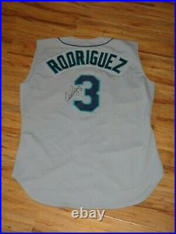 Alex Rodriguez 1998 Game Used Worn Signed Seattle Mariners Jersey Autographed