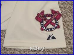 Alex Wood #40 size 48 2015 Home Alt Ivory Braves game used jersey MLB hologram