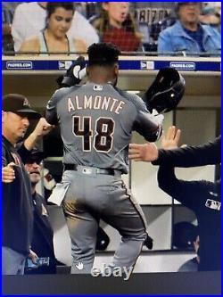 Almonte Size 46 Game Used Jersey Majestic Authentic 2019 Arizona Diamondbacks