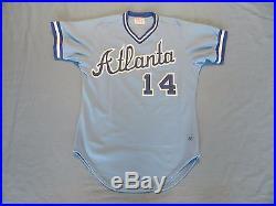 Andres Thomas 1986 Atlanta Braves game used jersey