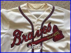 Andruw Jones Autographed Game Worn Used 90s Atlanta Braves Minor League Jersey