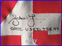Andruw Jones Signed Game Used Turn Back the Clock Braves Jersey
