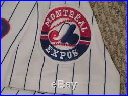 Andy Stankiewicz #5 size 46 1997 Montreal Expos Game used jersey Home White