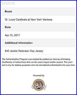 Aroldis Champan New York Yankees Game Used Jersey