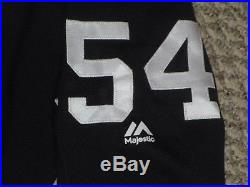 Aroldis Chapman #54 size large 2017 Yankees Game Used Jersey Issue pre game MLB