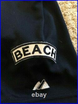 Atlanta Braves Chipper Jones Game Used Alternate Navy Jersey RARE Skip Beach