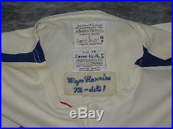 Atlanta Braves vintage 1972 Game Used / Worn Home Jersey. Mgr. Lum Harris