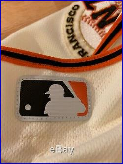 Austin Slater 17 Game Used Rookie Home Jersey SF Giants San Francisco Worn $500