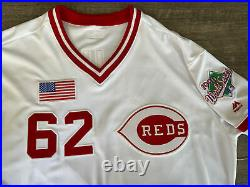 Authentic Game Issued Cincinnati Reds Stephens TBC 1990 World Series Jersey