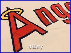 BILL SINGER road GAME WORN ANAHIEM ANGELS JERSEY used LA vtg 1974