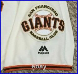 BLACH size 46 #50 2019 SAN FRANCISCO GIANTS GAME USED ISSUED JERSEY CREAM MLB