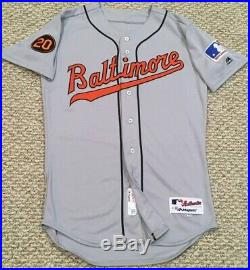 BLANK BACK size 40 2019 BALTIMORE ORIOLES TBTC 1969 game issued Jersey MLB HOLO