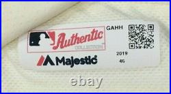 BOCHY FINAL GAME MENEZ size 46 #51 2019 GIANTS GAME USED JERSEY CREAM MLB HOLO