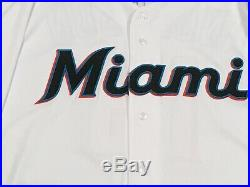 BRIAN ANDERSON size 48 #15 2019 MIAMI MARLINS game jersey home white MLB HOLO