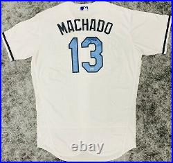 Baltimore Orioles Manny Machado Signed Game Used Fathers Day Jersey MLB + BAS
