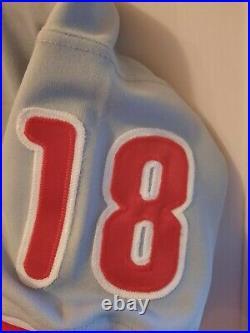 Benito Santiago 1996 Phillies game used jersey RARE