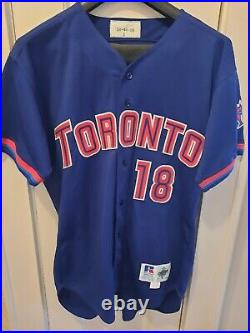 Benito Santiago 1998 Blue Jays game used jersey RARE