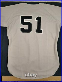 Bernie Williams 1998 New York Yankees #51 Game Issued Road Grey Jersey