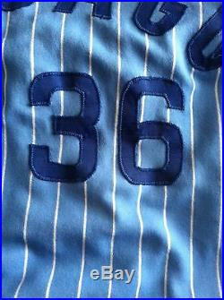 Bill Caudill 1981 Chicago Cubs # 36 game used road jersey