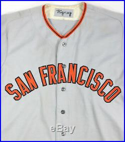 Bill Madlock 1977 Signed San Francisco Giants Game Used Worn Road Jersey Loa