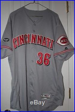 Blake Wood 2016 Cincinnati Reds Game Used Road Jersey, MLB Hol JB967555