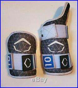 Blue Jays Bo Bichette 2018 game used worn elbow forearm pads