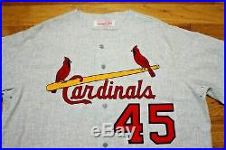 Bob Gibson St. Louis Cardinals 1960's style Mitchell & Ness jersey flannel new