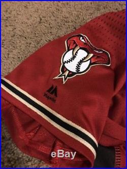 Braden Shipley 2016 Game Used/Issued Rookie Diamondbacks Jersey! MLB Auth