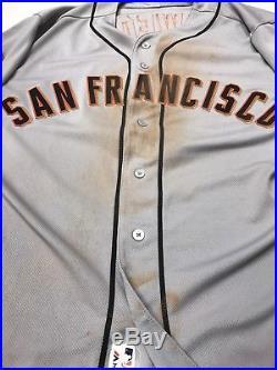 Brandon Crawford 2016 San Francisco Giants Game Used Worn Jersey MLB Auth